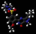 Sildenafil-citrate molecule