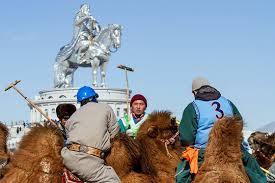 mongolian's playing polo