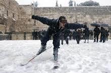 snow in Israel