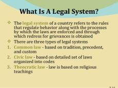 legal systems