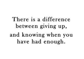 giving-up