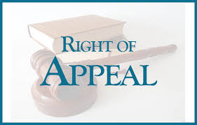Right of appeal