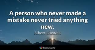 mistake Einstein