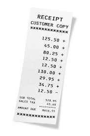 Calculating receipt