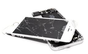 smashed up phone